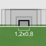 1,2x0,8 goal size