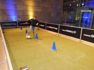alternatives to a goal wall - dribble parcours