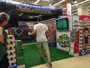 Fußball-Aktion für Shopping Center